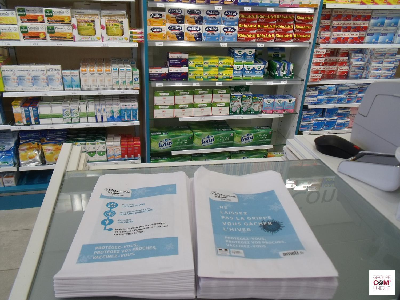 Diffusion dans les pharmacies à proximité des agences de la CPAM - Groupe Com'Unique