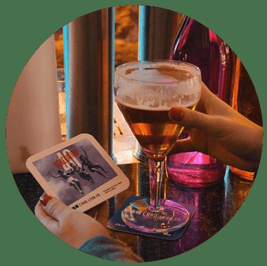 Sous-bock publicitaire diffusé dans les bars - Support tactique