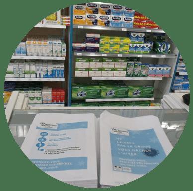 Sac à pharmacie publicitaire diffusé dans les pharmacies - Support tactique
