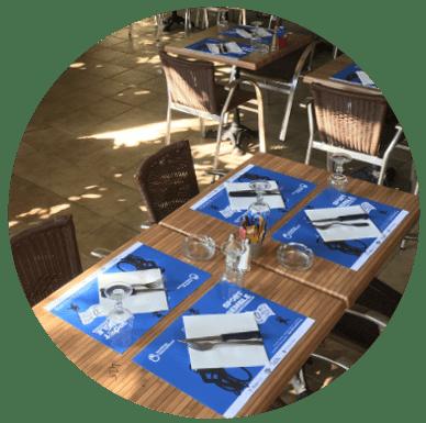 Set de table publicitaire diffusé dans les restaurants - Support tactique