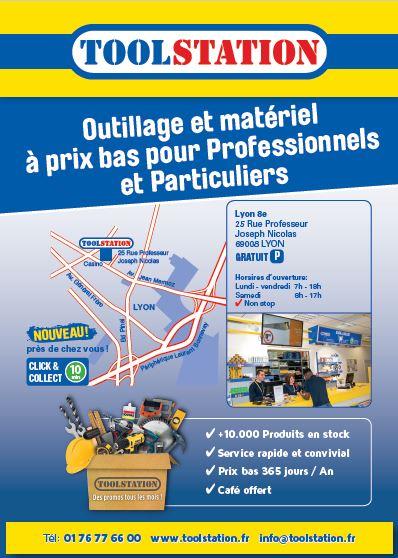 Visuel des affiches A3 de Toolstation pour l'ouverture d'un de leur magasin à Lyon - Groupe Com'Unique