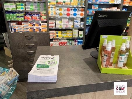 EMOA Mutuelle du Var communique en sacs à pharmacie publicitaires