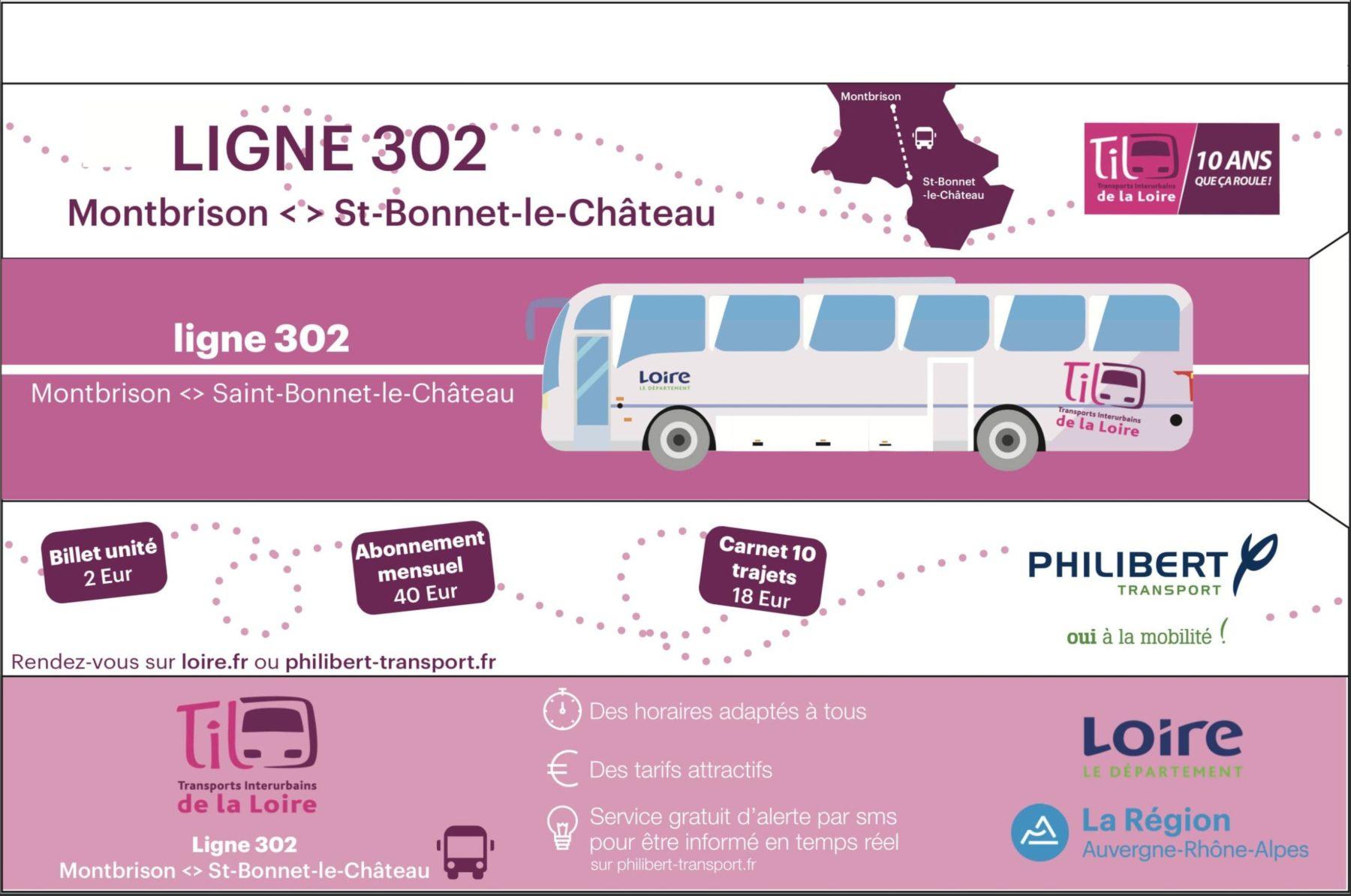 Visuel du sac à pain publicitaire pour les TIL par l'intermédiaire de Philibert Transport