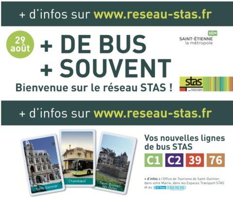 Visuel des sets de table publicitaires de la STAS pour promouvoir les nouvelles lignes de bus - Groupe Com'Unique