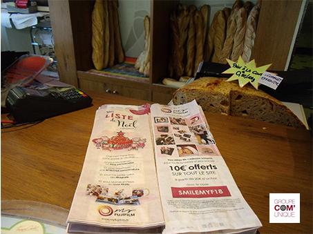 Promotion de My Fuji Film dans les boulangeries pour Noel - Commerces de proximité - Groupe Com'Unique