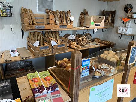 Campagne de sac à pain publicitaire - SIBRA - Groupe Com'Unique