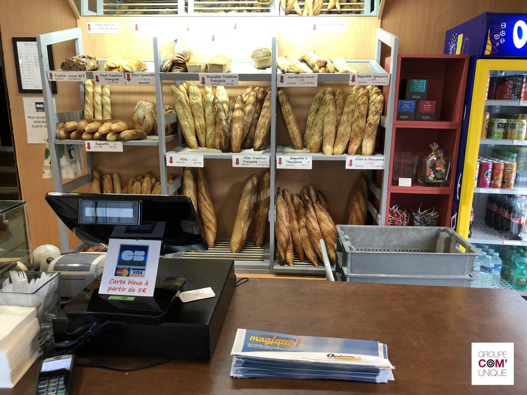 Diffusion de sac à pain publicitaire dans les boulangeries de Bretagne - Group Com'Unique