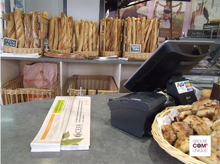 Diffusion ciblée de supports tactiques dans les boulangeries - Groupe Com'Unique