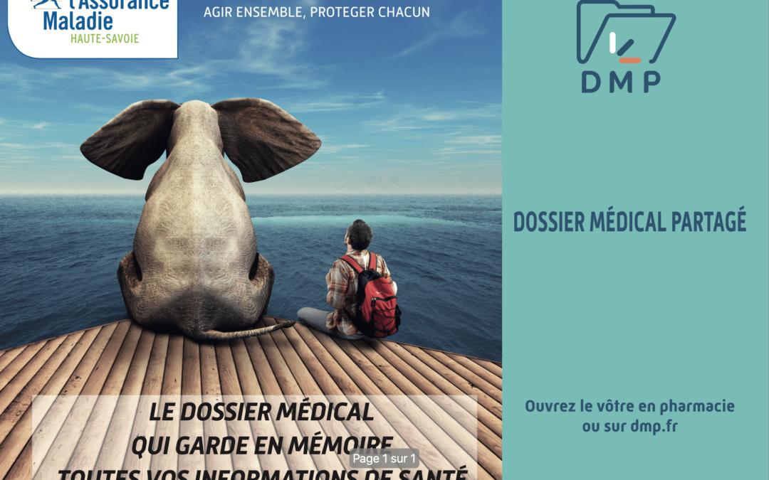 La CPAM Haute-Savoie fait la promotion du Dossier Médical Partagé grâce aux sets de table publicitaires