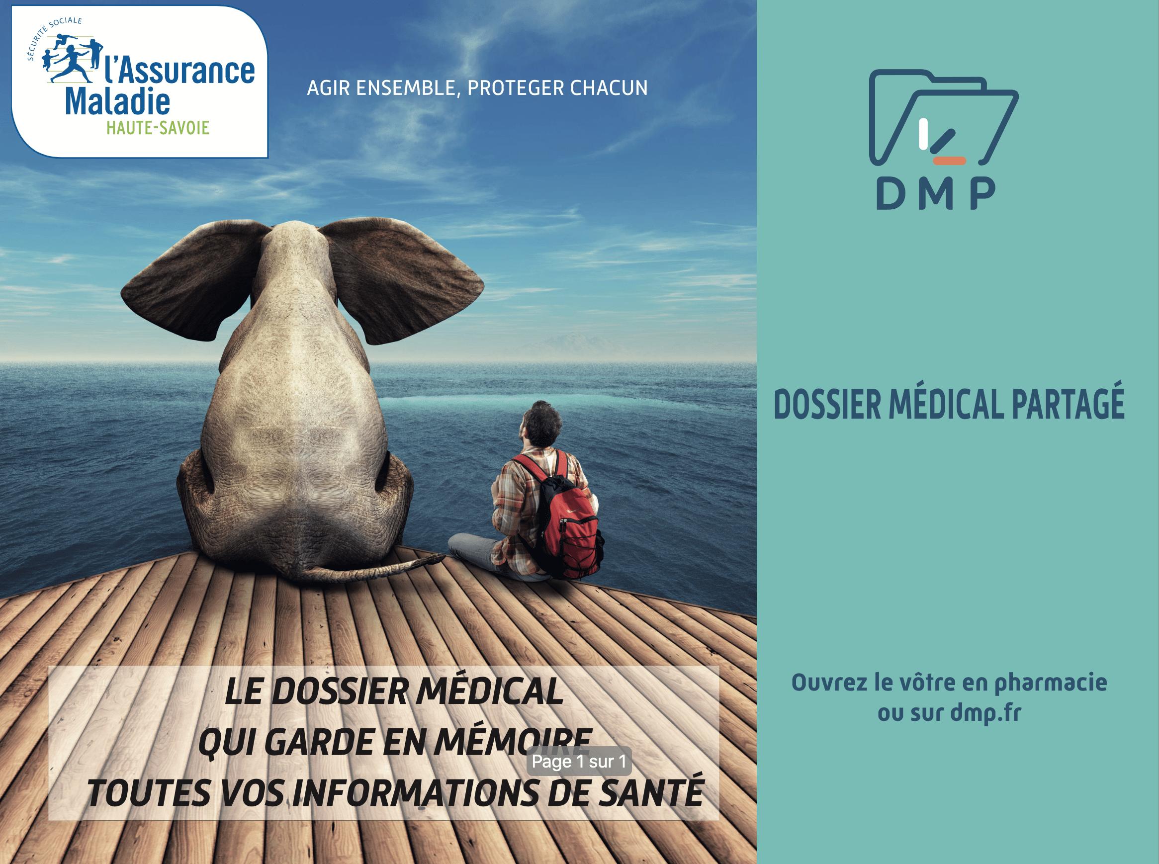 Visuel du dossier médical partagé - CPAM Haute-Savoie