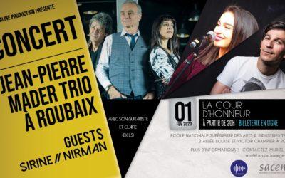 Reconnaissance Production fait la promotion du concert de Jean-Pierre Mader en sous-bock publicitaire