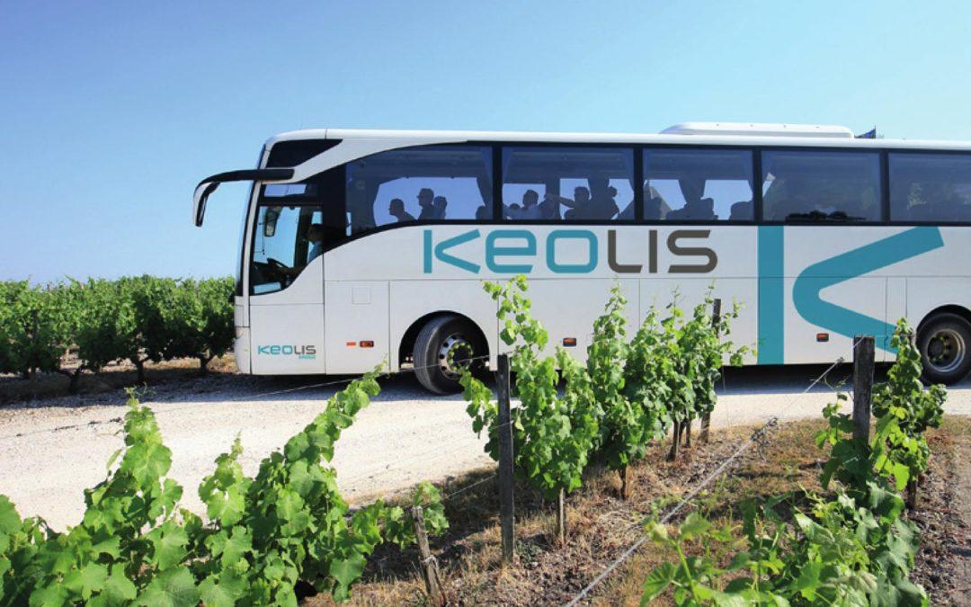 Bus de Keolis Gironde - Campagne de communication pour recrutement en sac à pain publicitaire - Groupe Com'Unique