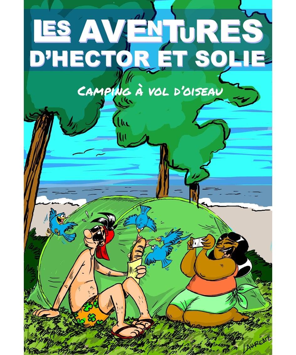 Les aventures d'Hector et Solie - Camping à vol d'oiseau - Couverture - Groupe Com'Unique