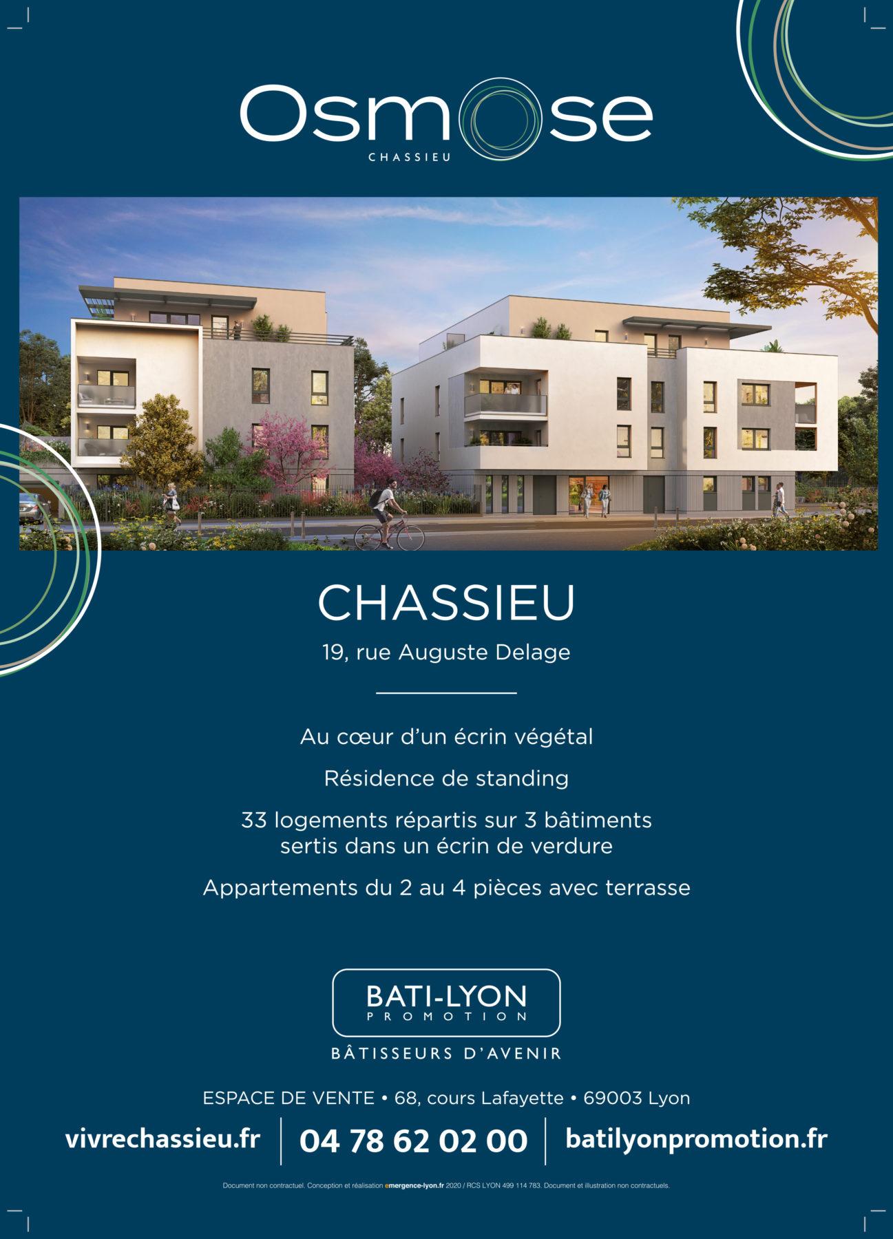 affiche A3 Bati-Lyon Promotion Groupe Com'unique