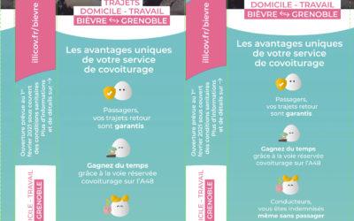 Promouvoir le covoiturage en Isère grâce au sac à pain publicitaire