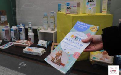 Promouvoir le service Happy Company sur des sacs à pharmacie