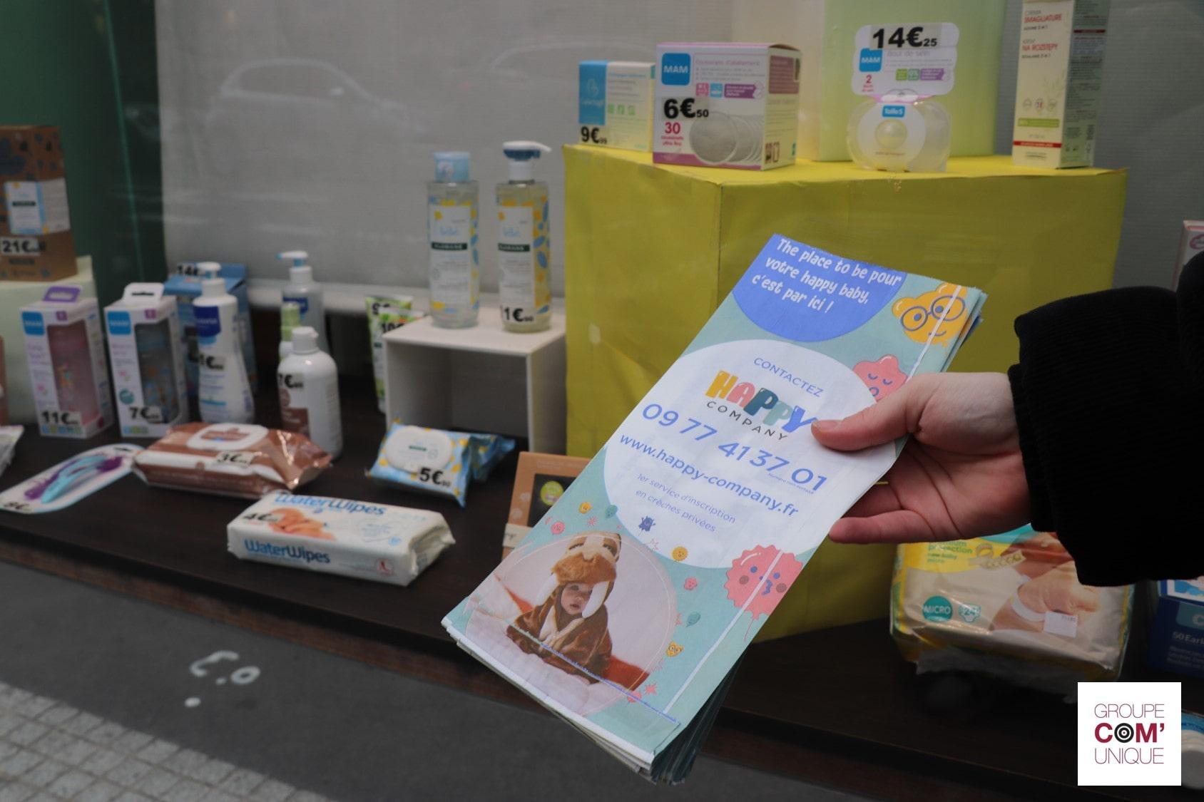 Crèche Happy Company - Campagne sac à pharmacie publicitaire - Groupe Com'Unique-min