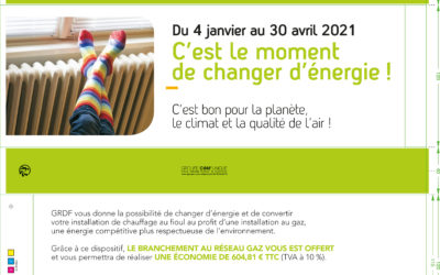Promouvoir l'offre de raccordement au gaz dans la Métropole de Brest sur des sacs à baguette