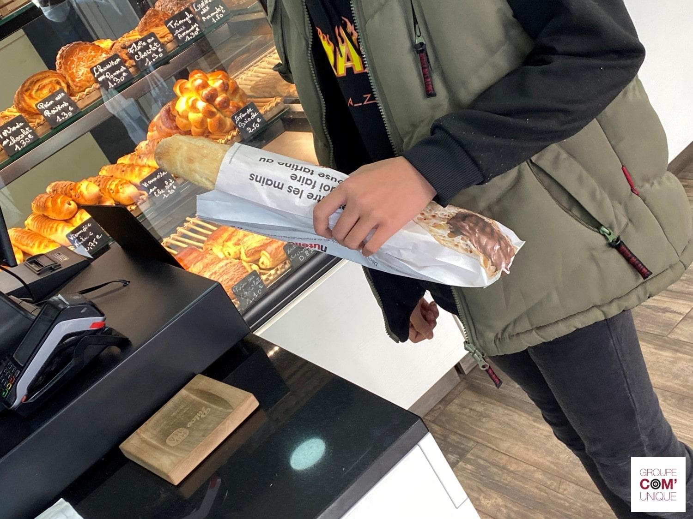 Nutella Ferrero - Campagne sac à pain publicitaire - Groupe Com'Unique-min