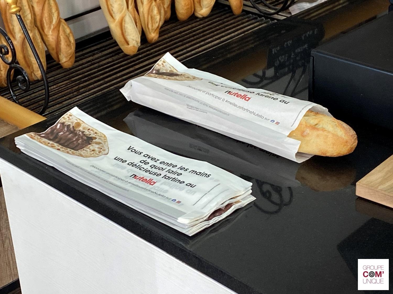 Nutella Ferrero - Campagne sac à pain publicitaire - #meilleuretartineNutella - Groupe Com'Unique-min