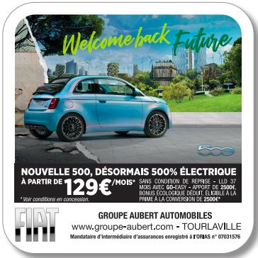 Le Groupe Aubert Automobiles de Cherbourg s'expose sur des sous-bocks publicitaires dans les bars de la ville